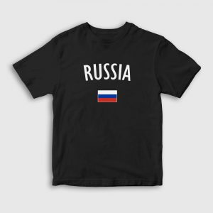 Rusya Çocuk Tişört siyah