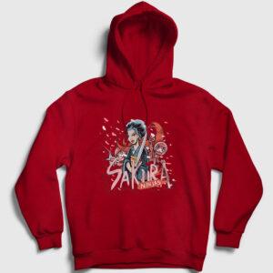 Sakura Ninjas Kapşonlu Sweatshirt kırmızı
