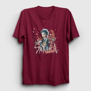 Sakura Ninjas Tişört bordo