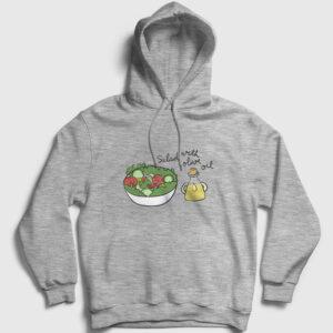 Salata Kapşonlu Sweatshirt gri kırçıllı