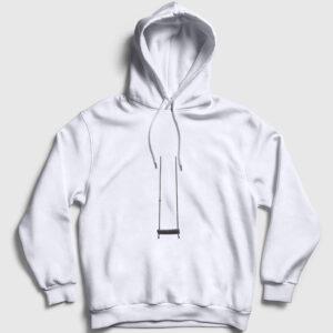 Salıncak Kapşonlu Sweatshirt beyaz