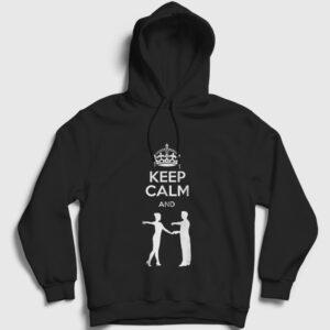 Salon Dansı Kapşonlu Sweatshirt siyah