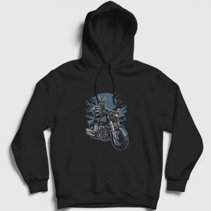 Samurai Rider Kapşonlu Sweatshirt siyah