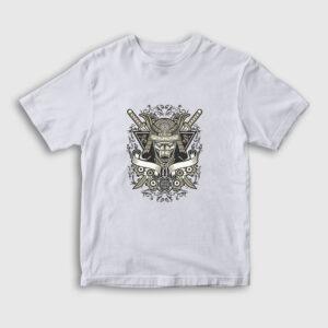 Samuray Çocuk Tişört beyaz