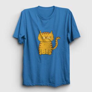 Sarman Kedi Tişört açık mavi