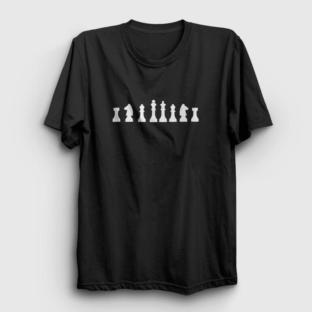 satranç tişört siyah