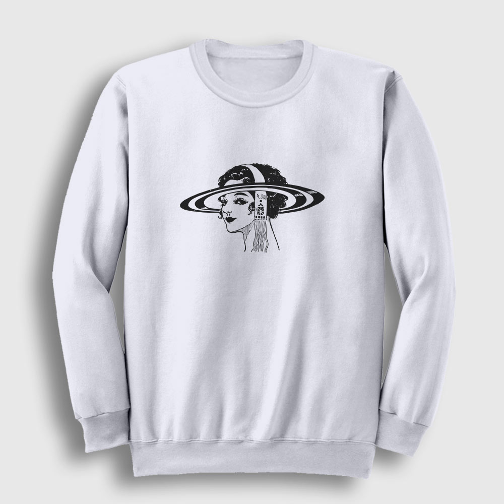 Saturn Head Sweatshirt beyaz