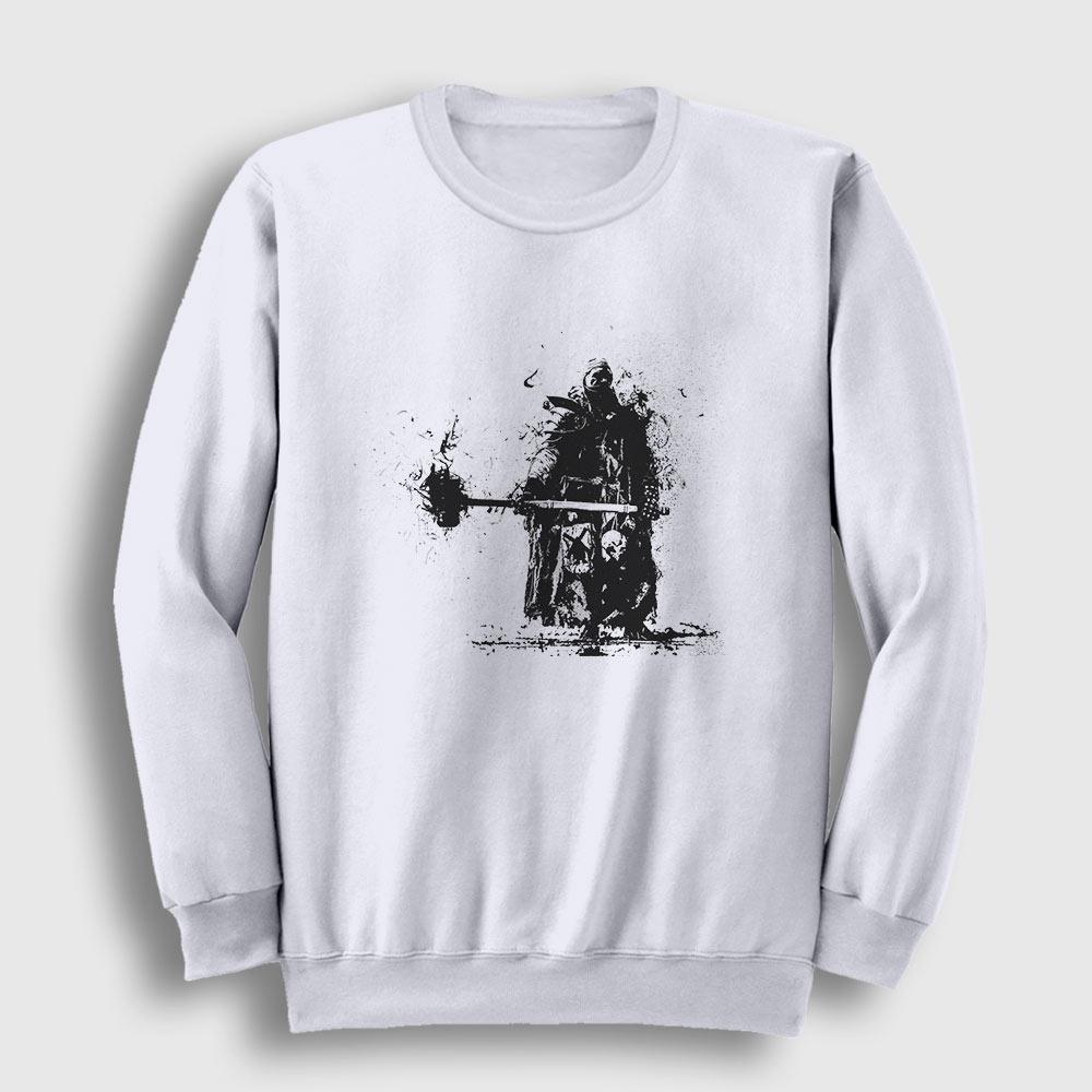 Savaşçı Sweatshirt beyaz