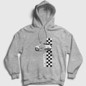 Scooter Kapşonlu Sweatshirt gri kırçıllı