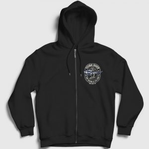 Scuba Diver Fermuarlı Kapşonlu Sweatshirt siyah