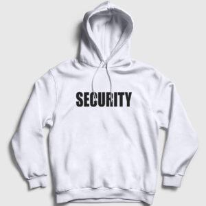 Security Kapşonlu Sweatshirt beyaz