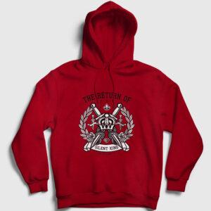 Sessiz Kral Kapşonlu Sweatshirt kırmızı
