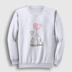 Sevimli Filler Sweatshirt beyaz