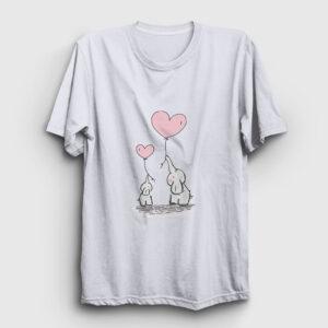 Sevimli Filler Tişört beyaz