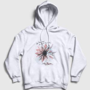 Seviyor Sevmiyor Kapşonlu Sweatshirt beyaz