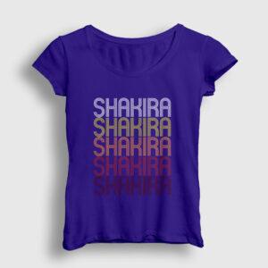 Shakira Kadın Tişört lacivert