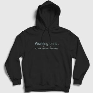 Sharepoint Working on it Kapşonlu Sweatshirt siyah