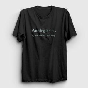 Sharepoint Working on it Tişört siyah