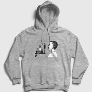 Shout Kapşonlu Sweatshirt gri kırçıllı