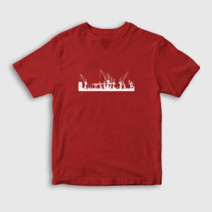 Siluet Hamburg Çocuk Tişört kırmızı