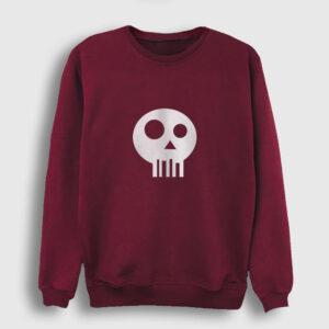 Simple Skull Sweatshirt bordo