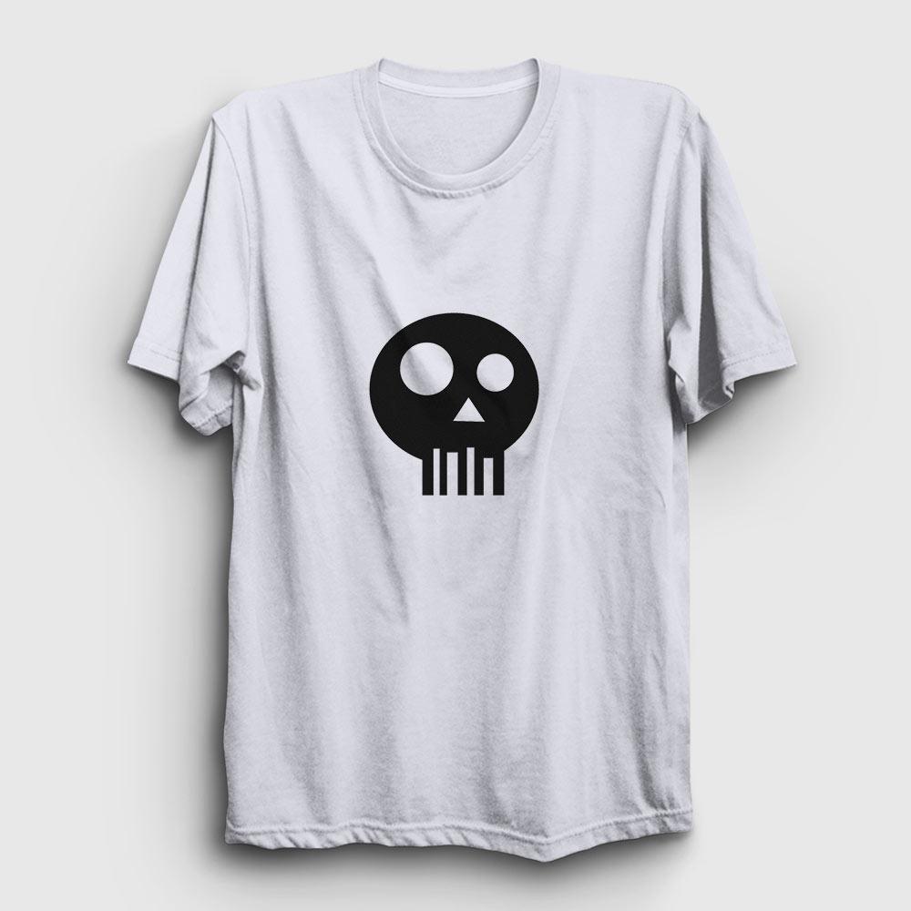simple skull tişört beyaz