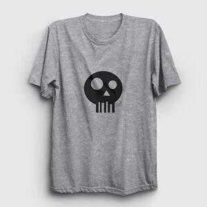 Simple Skull Tişört gri kırçıllı