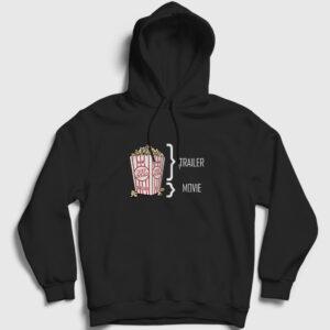 Sinema Kapşonlu Sweatshirt – Pop Corn siyah