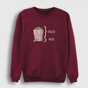 Sinema Sweatshirt - Pop Corn bordo
