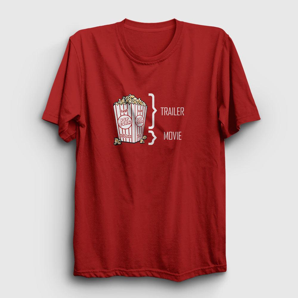 sinema tişört pop corn kırmızı