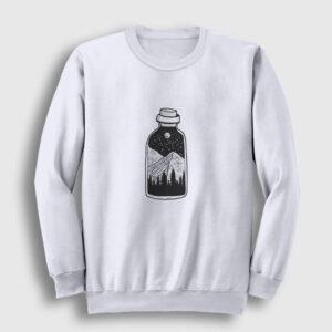 Şişede Manzara Sweatshirt beyaz