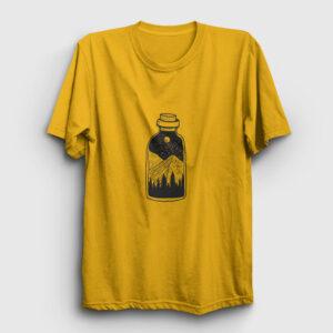 Şişede Manzara Tişört sarı