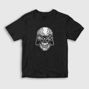 Skull Gamer Çocuk Tişört siyah