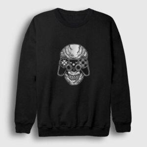 Skull Gamer Sweatshirt siyah