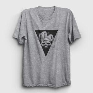 Skull Jester Tişört gri kırçıllı