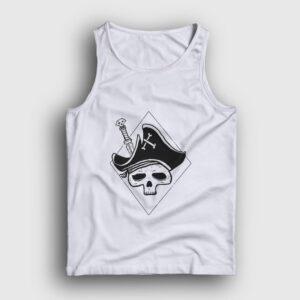 Skull Pirate Atlet beyaz