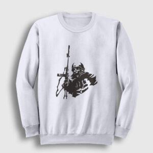 Sniper Sweatshirt beyaz