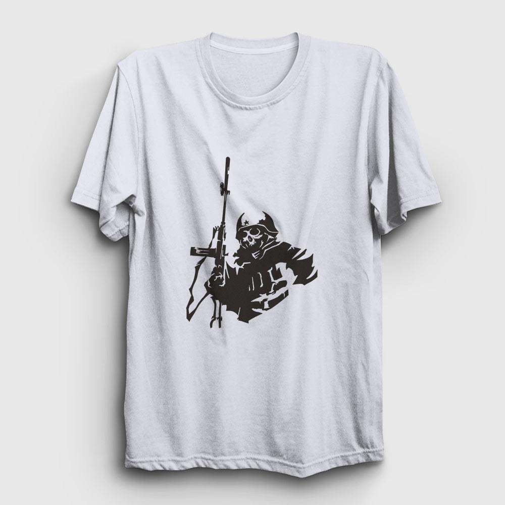 sniper tişört beyaz