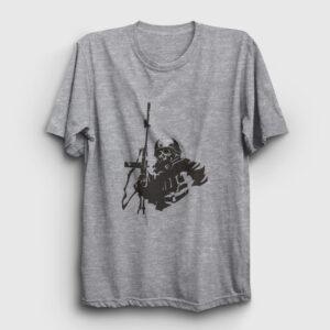Sniper Tişört gri kırçıllı