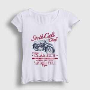 South Cali Kadın Tişört beyaz