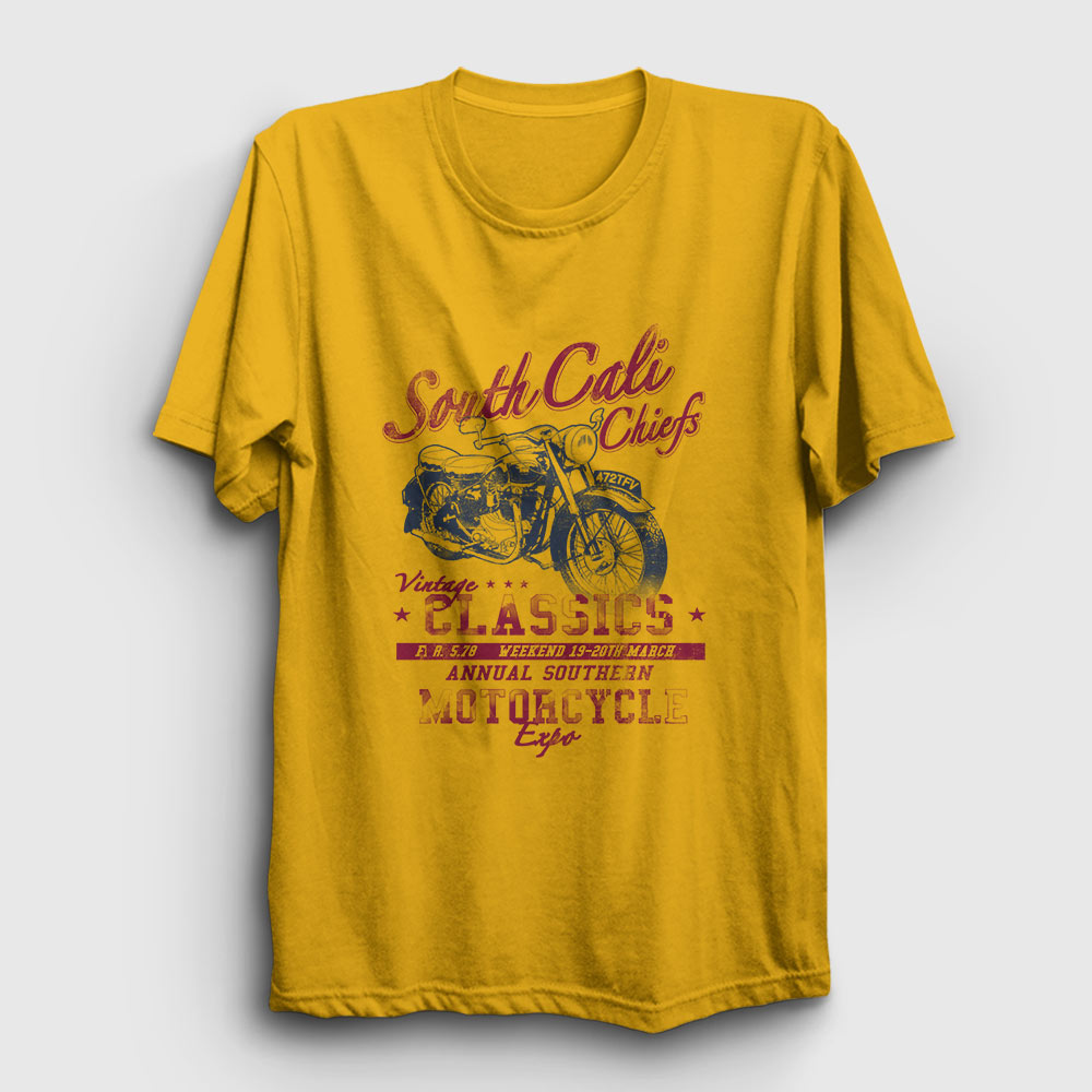 south cali tişört sarı