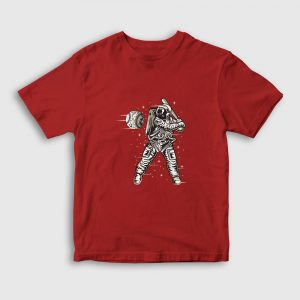 Space Baseball Çocuk Tişört kırmızı