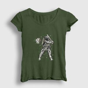 Space Baseball Kadın Tişört haki