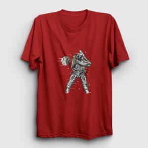 Space Baseball Tişört kırmızı