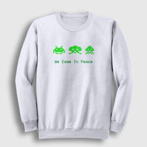 Space Invaders Sweatshirt beyaz