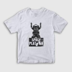 Space Platoon Çocuk Tişört beyaz
