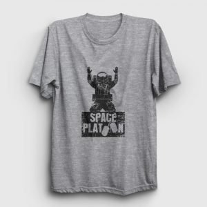 Space Platoon Tişört gri kırçıllı