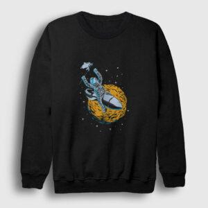 Space Rider Sweatshirt siyah