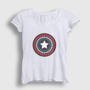 Star Shield Kadın Tişört beyaz