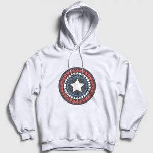 Star Shield Kapşonlu Sweatshirt beyaz